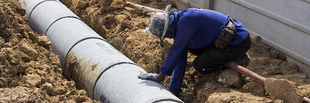 drain laying services